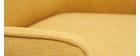 Sillón en tejido efecto terciopelo amarillo mostaza LAURENS
