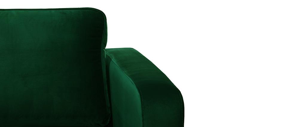 Sillón en terciopelo verde HARRY