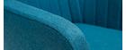 Sillón escandinavo azul petróleo y patas roble ALEYNA