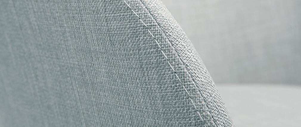 Sillón escandinavo gris claro y madera lote de 2 DALIA