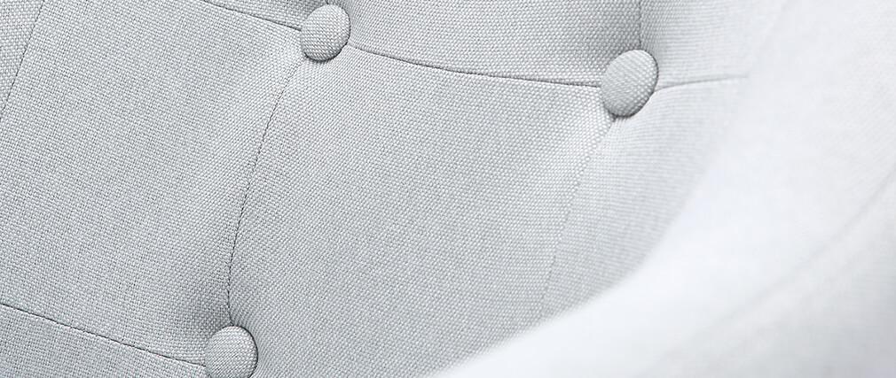 Sillón escandinavo tejido gris claro y patas madera lote de 2 BALTIK