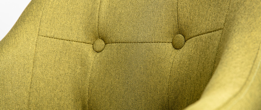 Sillón escandinavo tejido verde y patas madera lote de 2 BALTIK