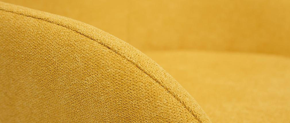 Sillón mecedora infantil terciopelo amarillo patas metal y madera JHENE