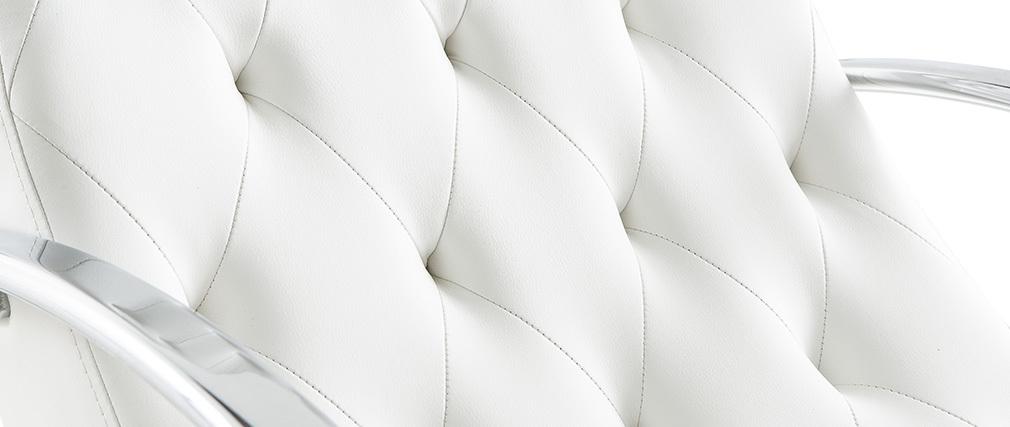 Sillón mecedora moderno blanco mecedora CHESTY