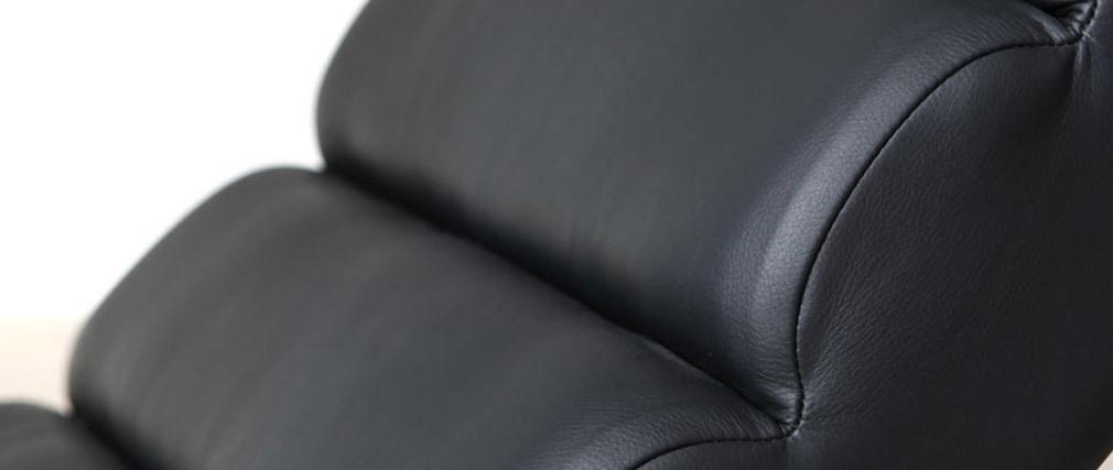 Sillón mecedora moderno negro TAYLOR
