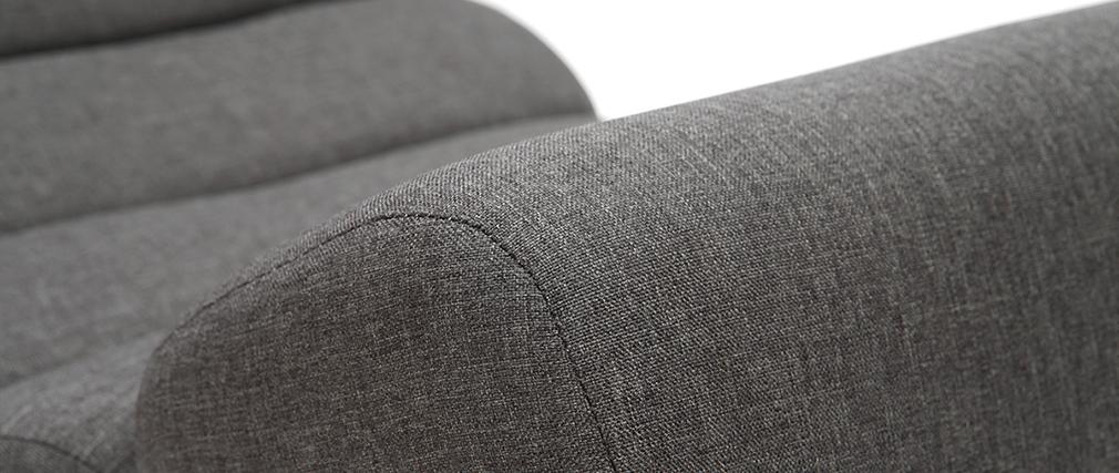 Sillón mecedora moderno tejido gris oscuro TAYLOR