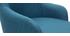 Sillón moderno en tejido azul petróleo y patas metal negro AMON