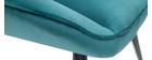Sillón moderno en tejido efecto terciopelo azul petróleo BILLIE