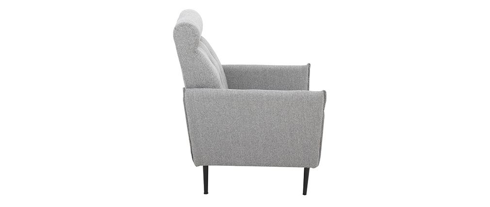 Sillón moderno en tejido gris claro HIBA