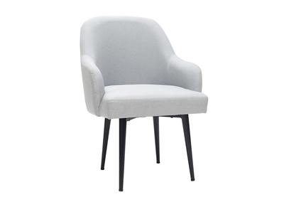 c059f22cf Sillón moderno en tejido gris claro y patas metal negro AMON