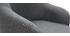 Sillón moderno en tejido gris oscuro y patas metal negro AMON