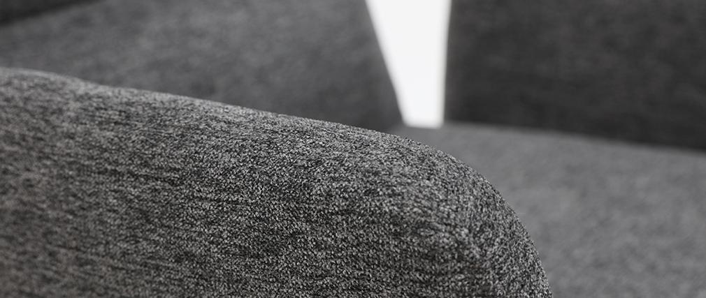 Sillón moderno en tejido gris y metal negro MYST