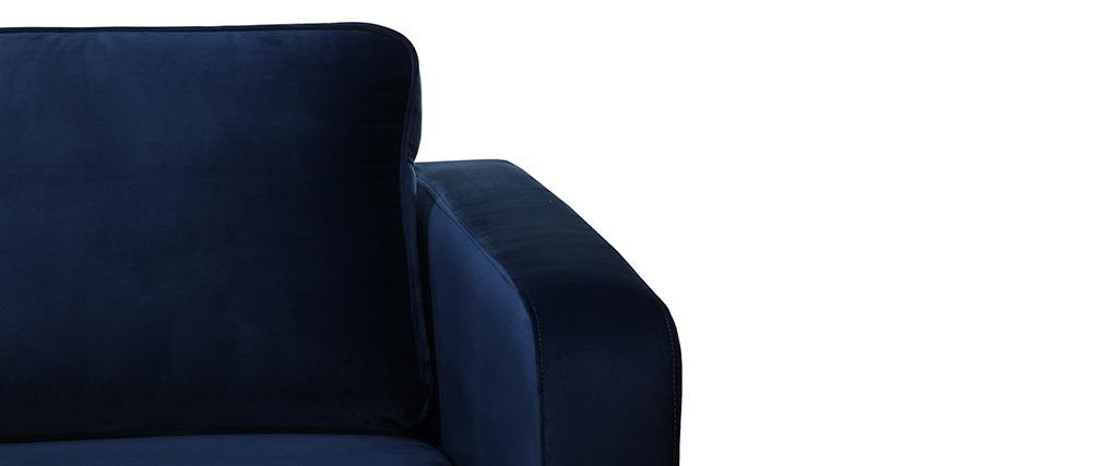 Sillón moderno terciopelo azul oscuro HARRY