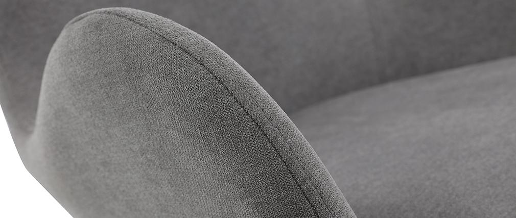 Sillón moderno terciopelo gris ANDY