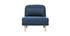 Sillón nórdico convertible tejido azul oscuro AMIKO