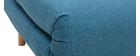 Sillón nórdico convertible tejido azul petróleo AMIKO