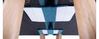 Sillón nórdico convertible tejido azul petróleo BENNIE