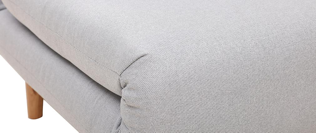 Sillón nórdico convertible tejido gris claro AMIKO