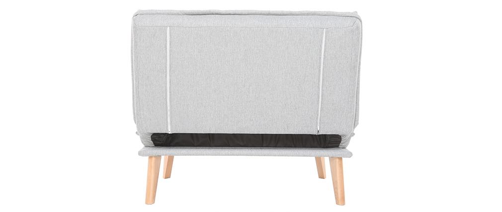 Sillón nórdico convertible tejido gris claro BENNIE