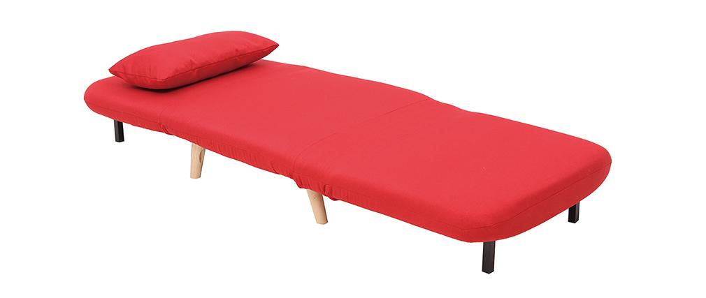 Sillón nórdico convertible tejido rojo AMIKO
