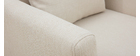 Sillón nórdico desenfundable tejido beige OSLO