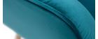Sillón nórdico en terciopelo azul petróleo y madera AVERY