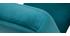 Sillón nórdico en terciopelo azul petróleo y madera clara ABYSS