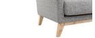 Sillón nórdico gris claro patas madera clara OSLO