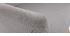 Sillón nórdico gris claro y madera AMADEO