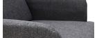 Sillón nórdico gris y patas madera ISKO