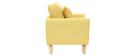 Sillón nórdico infantil desenfundable en tejido amarillo BABY OSLO