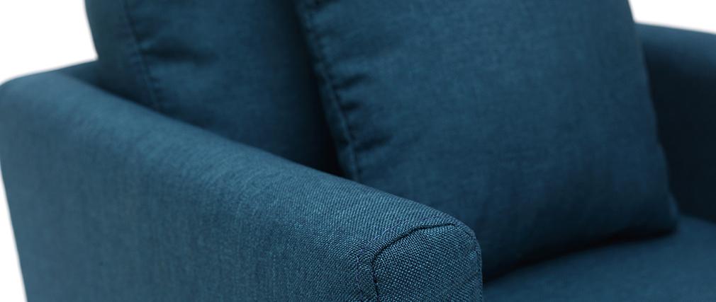 Sillón nórdico infantil desenfundable en tejido azul petróleo BABY OSLO