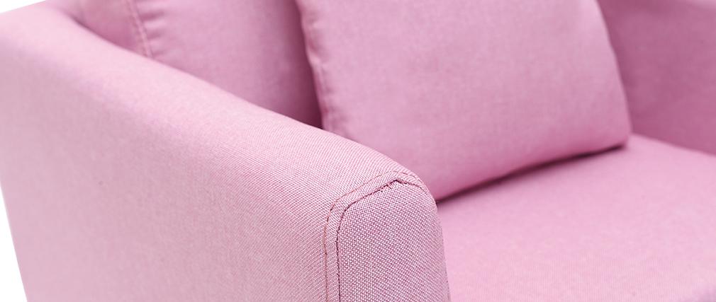 Sillón nórdico infantil desenfundable en tejido rosa BABY OSLO