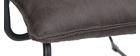 Sillón polipiel gris antracita y estructura metal negra MERCY