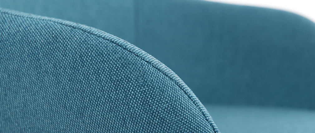 Sillón relax - Baby mecedora tejido azul patas metal y fresno JHENE