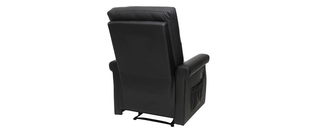 Sillón relax diseño manual negro COTY