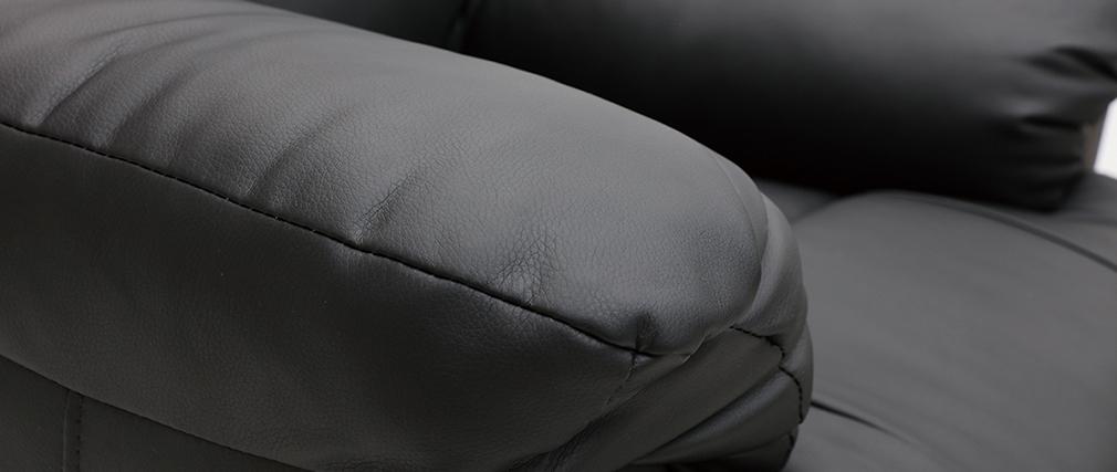 Sillón Relax eléctrico elevador negro PHOEBE