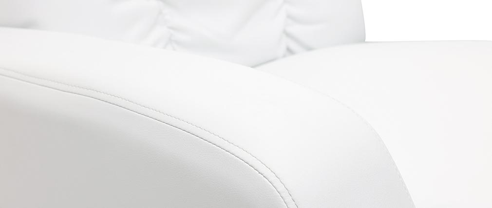 Sillón Relax eléctrico masajeador blanco GALLER