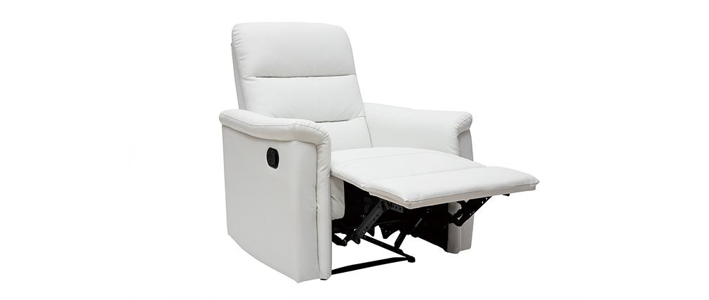 Sillón relax manual blanco MANDALA