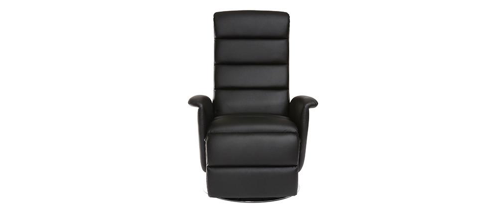 Sillón relax manual negro NELSON