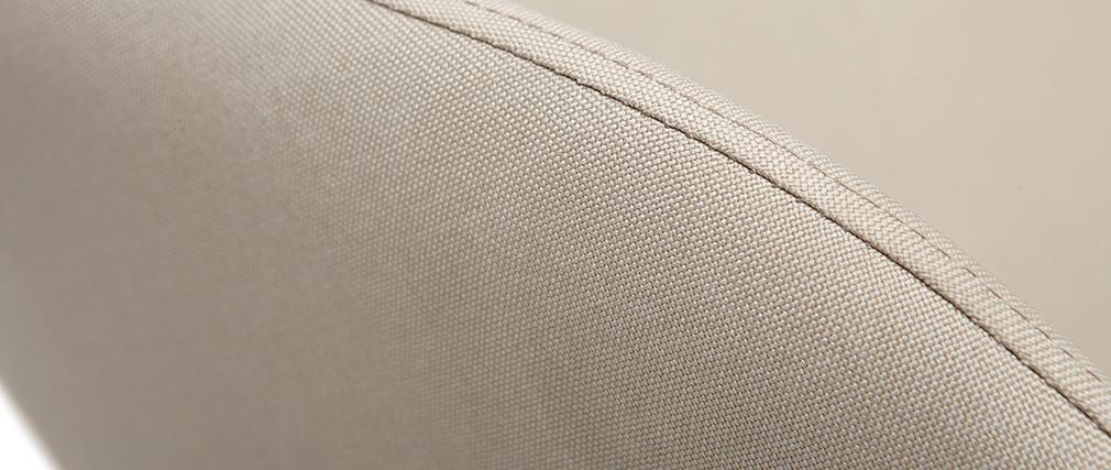 Sillón relax - Mecedora tejido natural patas metal y fresno JHENE