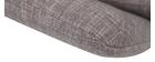 Sillón rotativo en tejido gris claro y pata metal AMADEO