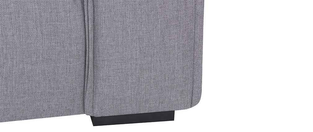 Sillón tejido moderno gris claro MELLOW