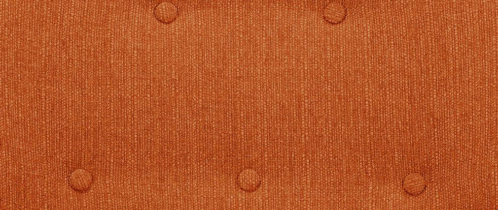 Sillón tejido naranja patas madera clara OLAF