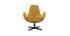 Sillón terciopelo amarillo mostaza ANDY