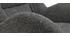 Sillón y reposapiés moderno en tejido gris ZOE