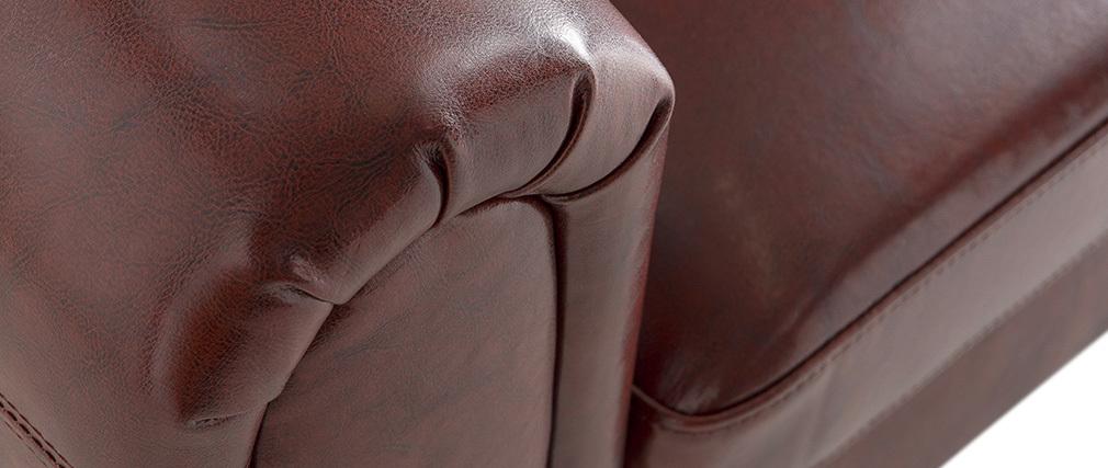 Sofá 2 plazas CLUB color marrón claro - cuero de vacuno