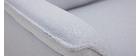 Sofá 2 plazas en tejido gris claro CLIFF