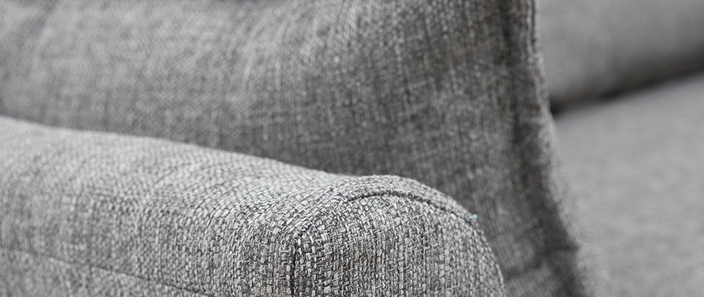 Sofá 2 plazas gris KATE