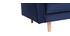 Sofá 3-4 plazas terciopelo azul oscuro IMPERIAL
